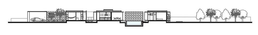 Corte1 - Casa PM Espacios limpios y cálidos, llenos de luz